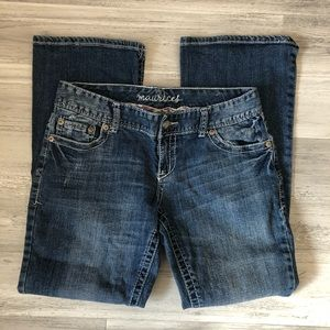 Maurices Bootcut Factory Faded Jeans 9/10 Short